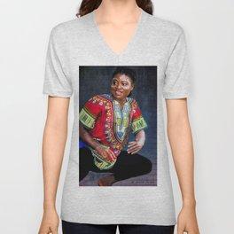 African Dancer Unisex V-Neck