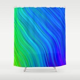 stripes wave pattern 1 stdv Shower Curtain