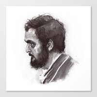 stanley kubrick Canvas Prints featuring Stanley Kubrick by Laurent Samani