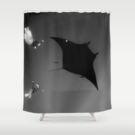 Manta and Divers Shower Curtain