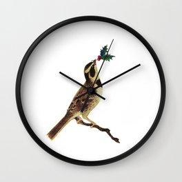 ChristmasBird Wall Clock