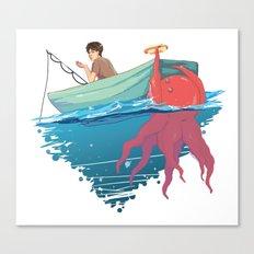 Man vs Food Canvas Print
