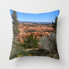 Wild  Nature of Bryce Canyon Throw Pillow