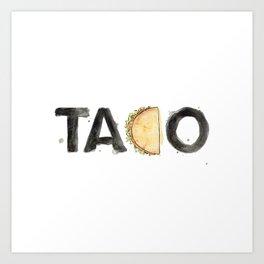 Favourite Things - Taco Art Print