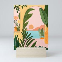 Moroccan Coast - Tropical Sunset Scene Mini Art Print