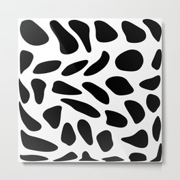 Black Pebbles Motif Metal Print