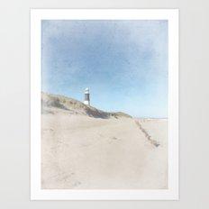 Spurn Point Lighthouse   Texture Art Print