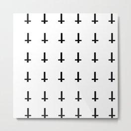 Upside Down Cross Pattern Metal Print