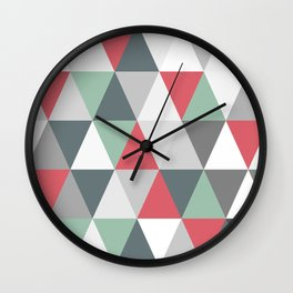 Rombi pink and light blue Wall Clock