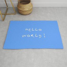 Hello world - blue Rug
