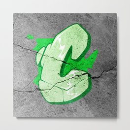 C - Graffiti letter Metal Print