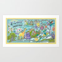 Map of Forest Park Art Print