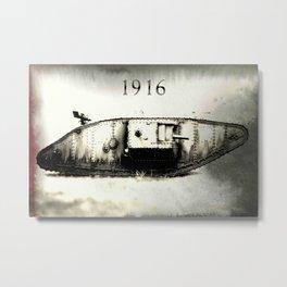 Tank 1916 Metal Print
