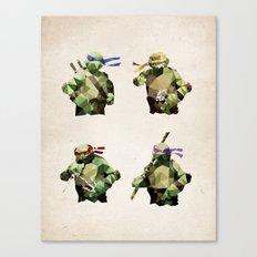 Polygon Heroes - TMNT Canvas Print