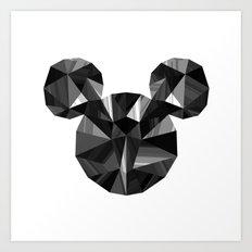 Black Pop Crystal Art Print