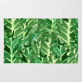 Holly Jolly Leaves (Large Pattern) Rug