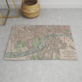 Vintage Map of Richmond VA (1914) Rug