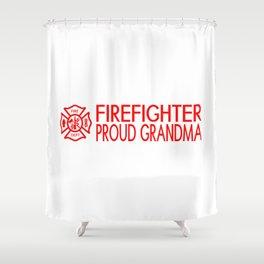 Firefighter: Proud Grandma (Florian Cross) Shower Curtain