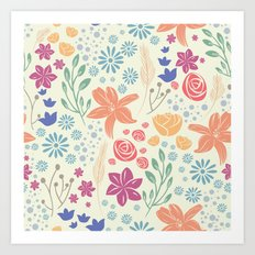 Spring Florals | Light Art Print