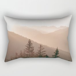 Sunset in the Mountains | Warm Colors | Landscape Photography Alps | Print Art Rectangular Pillow
