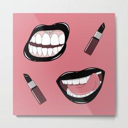Black Lipstick Metal Print