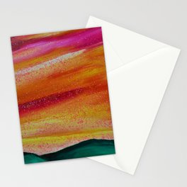 PEACH SKYSCAPE Stationery Cards