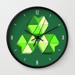 Geometric Clover 3D Wall Clock