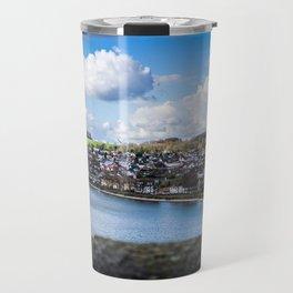 Cityscape Möhne From Reservoir Barrage Wall Travel Mug