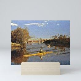 Thomas Cowperthwait Eakins - The Champion Single Sculls, Max Schmitt in a Single Scull Mini Art Print