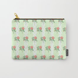 Stem Rose Watercolor Pattern Mint Carry-All Pouch