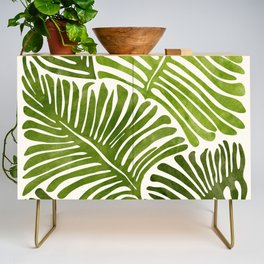 Summer Fern / Simple Modern Watercolor Credenza