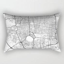 Teheran Map White Rectangular Pillow