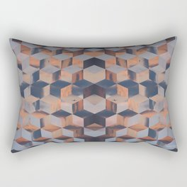 Tumbling Blocks (Sky Quilt 3) Rectangular Pillow