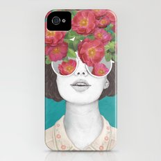 The optimist // rose tinted glasses iPhone (4, 4s) Slim Case