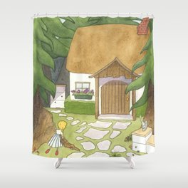 Goldilocks Comes Upon a Woodland Cottage Shower Curtain