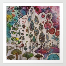 Behind the Veil Art Print