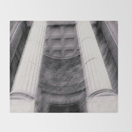 Old Montreal Columns Throw Blanket