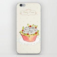 x-mas cupcake_01 iPhone & iPod Skin