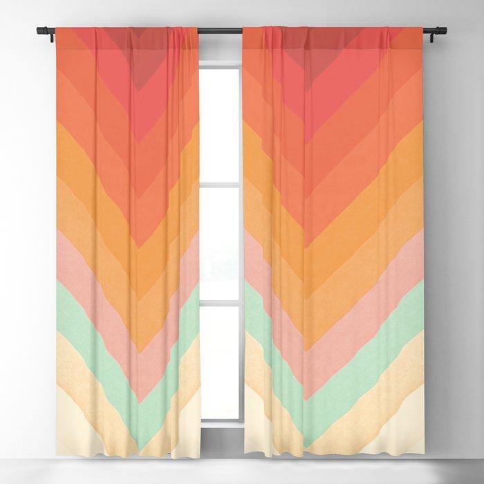Rainbow Chevrons Blackout Curtain