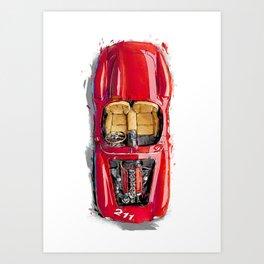 Rosso Corsa Art Print