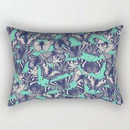 butterfly mint Rectangular Pillow