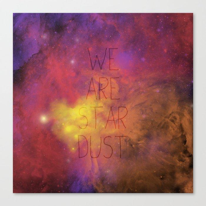 Nebula (Text) Canvas Print