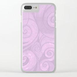 lavender II Clear iPhone Case