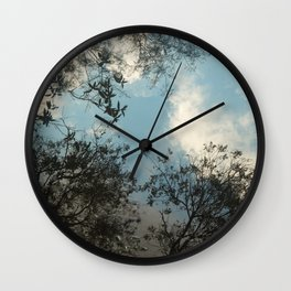 Trees and clouds reflected Wall Clock