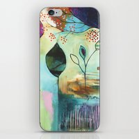 """flora bowley iPhone & iPod Skins featuring """"Abundance"""" Original Painting by Flora Bowley  by Flora Bowley"""