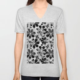 Flora Grey #society6 #buyart #decor Unisex V-Neck
