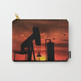 Kansas Sunset/Silhouette with Oil Well Pump Carry-All Pouch
