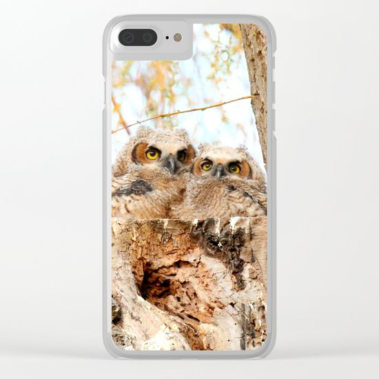 Two peas in a pod Clear iPhone Case
