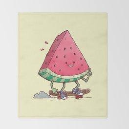 Watermelon Slice Skater Throw Blanket