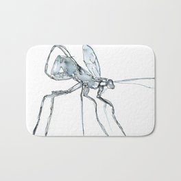 Mosquito, Watercolor Bath Mat